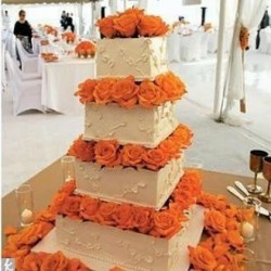 Orange Wedding Cake Flowers